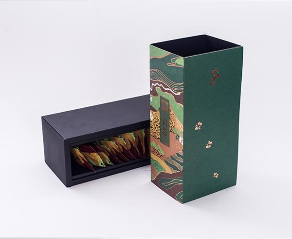 岩翠绿茶-特种纸盒