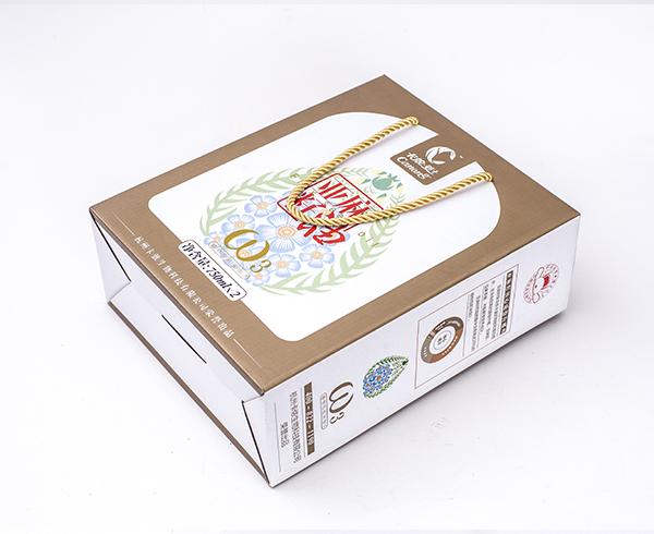 亚麻籽油-手提瓦楞彩盒