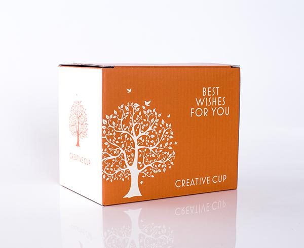 桔红色小箱-E瓦楞彩盒